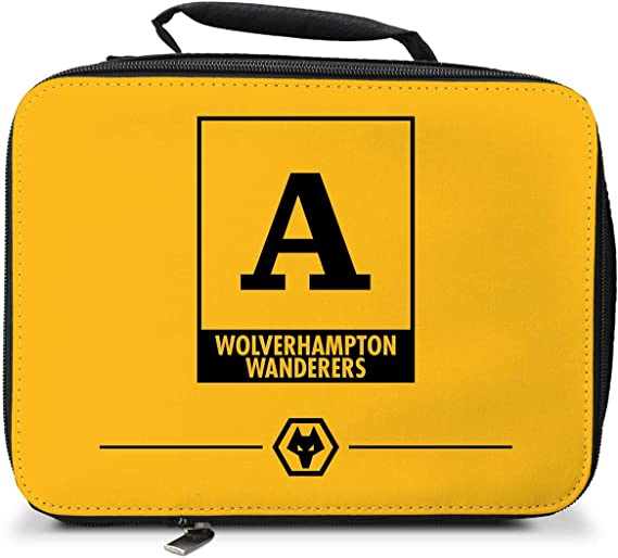 Personalised Wolves FC Monogram Insulated Lunch Bag