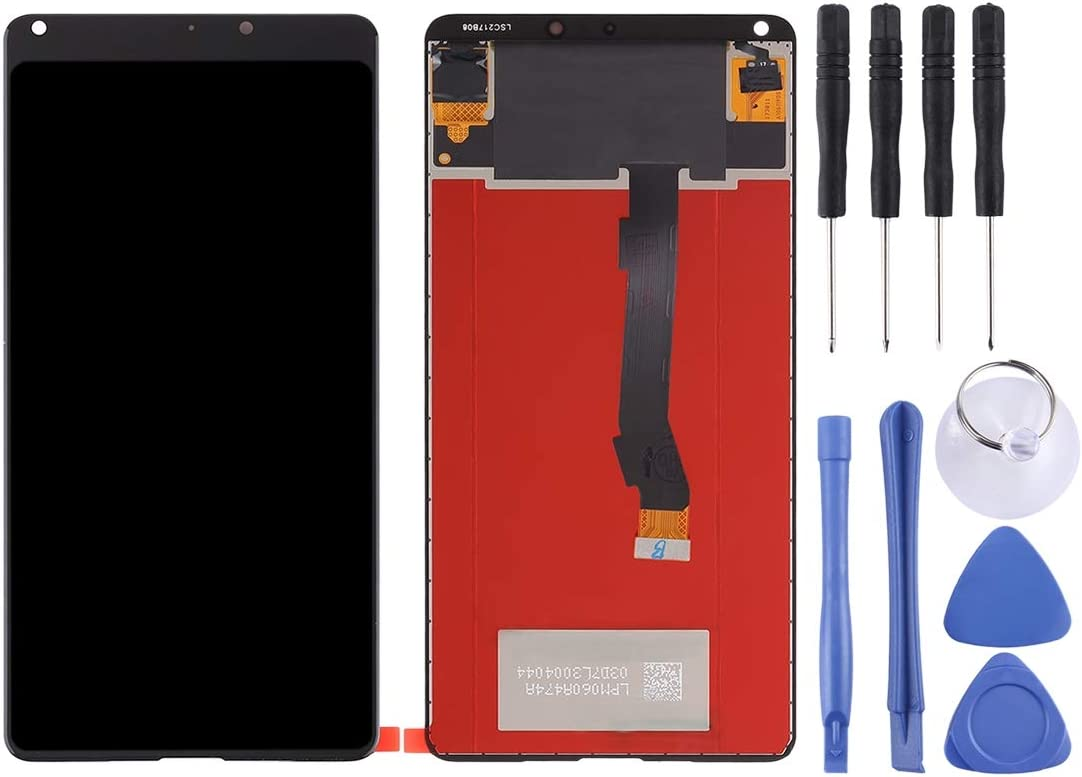 Black Color : Black FURUMO NA Replacement LCD Display+Touch Screen for Xiaomi Mi LCD Screen and Digitizer Full Assembly for Xiaomi MI Mix 2S