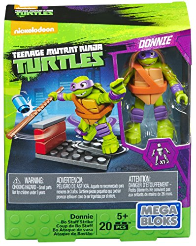 Mega Bloks Teenange Mutant Ninja Turtles Donnie Bo Staff Strike Building -