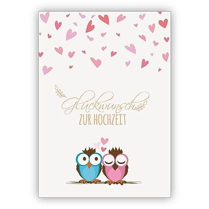 Dos Süße Búhos con mucho corazón felicitar a esta tarjeta ...