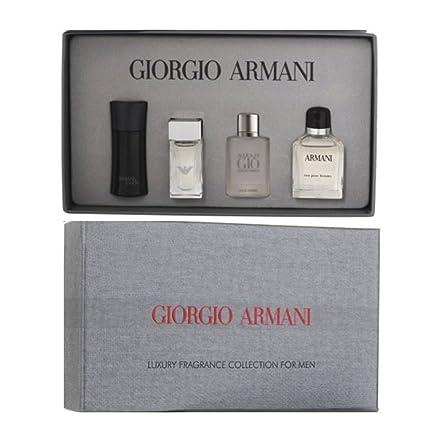 Giorgio Armani - Juego mini para hombre, incluye perfume (7 ml), Acqua