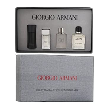 Giorgio Armani Mens Luxury Perfume Mini Gift Set  Eau Pour Homme 7ml EDT Acqua  sc 1 st  Amazon UK & Giorgio Armani Mens Luxury Perfume Mini Gift Set : Eau Pour Homme ...