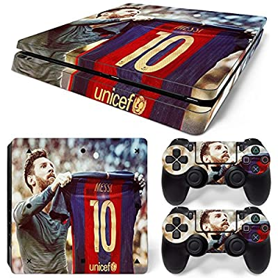FriendlyTomato PS4 Slim Skin and DualShock 4 Skin - Soccer - PlayStation 4 Slim Vinyl Sticker for Console and Controller Skin