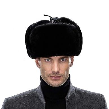 Sisha Men s Mink Fur Hat Elegant Russian Ushanka Winter Warm Cossack Style  Hats with Ear Flaps 0f343cfb9e3