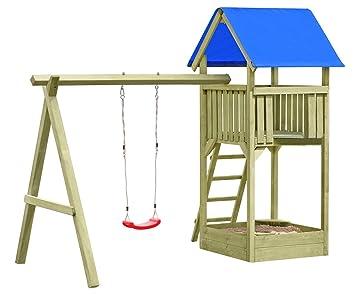 Fabulous Gartenpirat Premium Spielturm S mit Schaukel und Sandkasten WS05