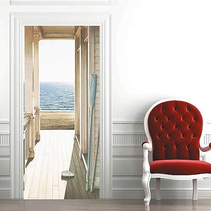 Zddbd Papier Peint Porte Sticker Porte Muraux 3d Interieure