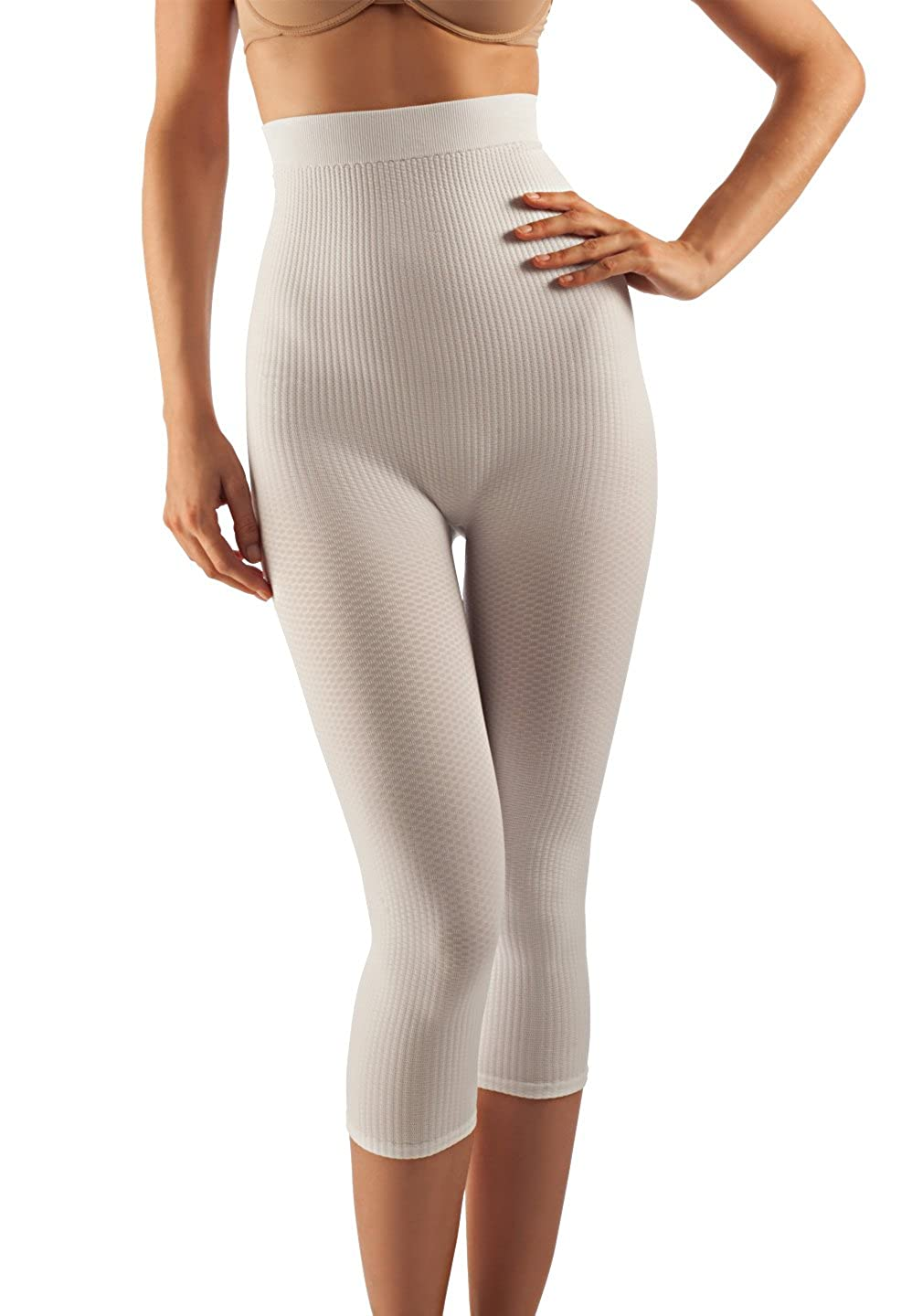Farmacell 123 Women's high-Waisted Anti-Cellulite micromassage Capri Leggings Calze G.T. S.r.l.