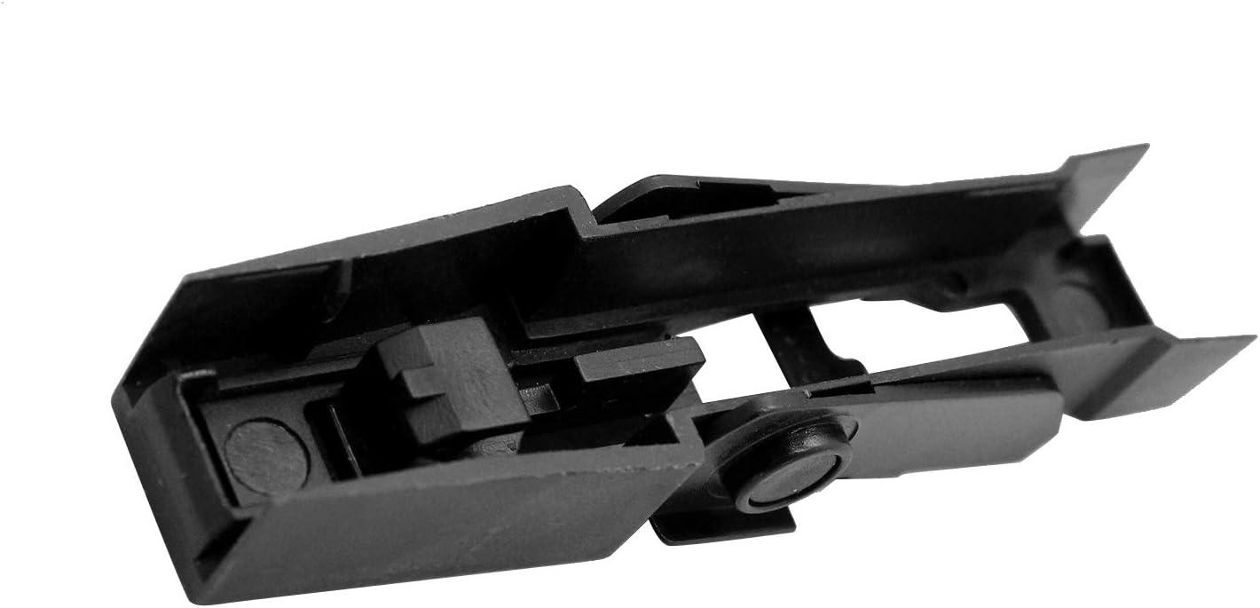 Cuchilla del brazo del limpiaparabrisas delantero,Benkeg 2 PCS Brazo del limpiaparabrisas delantero Fijaci/ón de la cuchilla Retenci/ón del clip de bloqueo de repuesto para Land Rover Discovery MK