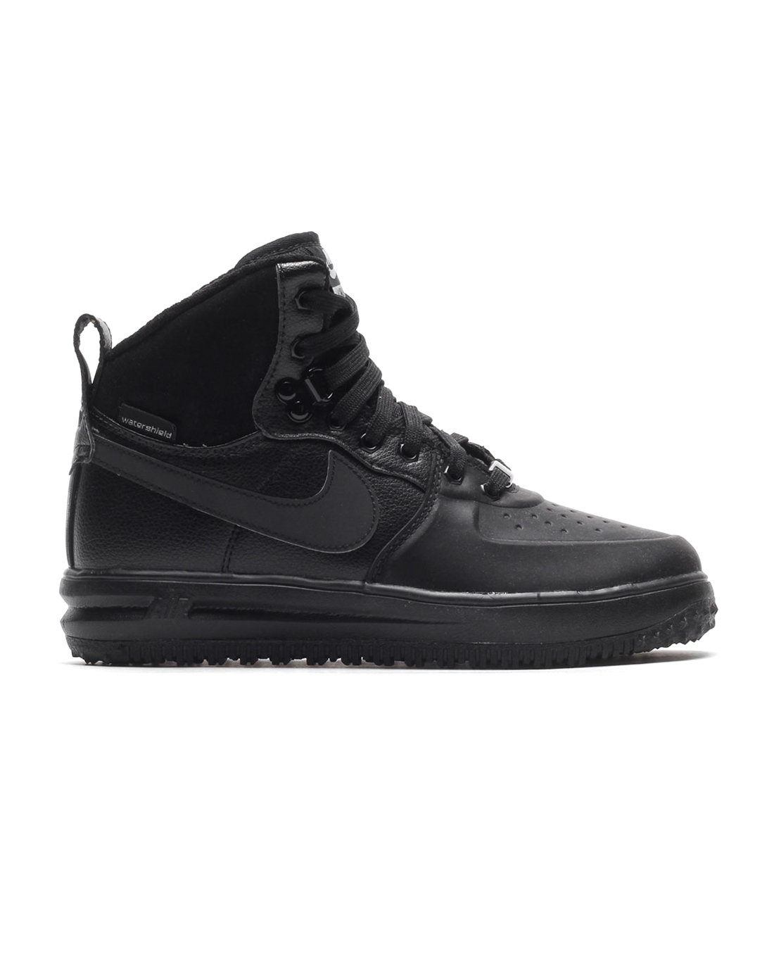 Nike Lunar Force 1 Sneakerboot (GS) Black/Black-Metallic Silver (4.5Y) by Nike (Image #1)