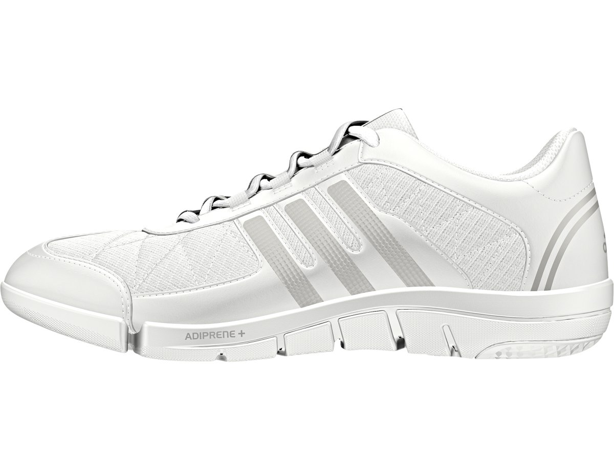 adidas Performance Women's Triple Cheer Cross-Trainer Shoe, White/Sharp Grey/Light Grey, 9.5 M US