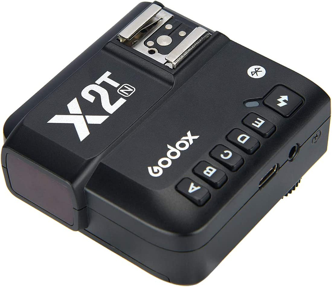 Godox X2T-N TTL Wireless Flash Trigger for Nikon Bluetooth Connection Supports iOS//Android App Contoller,1//8000s HSS,TCM Function,Relocated Control-Wheel,New AF Assist Light