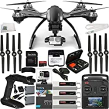 YUNEEC Typhoon G Quadcopter with GB20 Gimbal for GoPro (RTF) & Manufacturer Accessories + 2 Extra 5400mAh Flight Batteries + GoPro HERO4 Black + SanDisk Extreme PRO 32GB microSDHC Memory Card + MORE