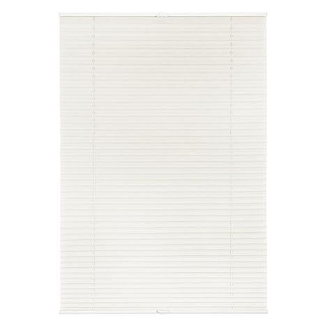 Lichtblick Plissee Klemmfix, 80 cm x 130 cm (B x L) in Weiß, ohne Bohren, Sicht- und Sonnenschutz, lichtdurchlässig & blickdi