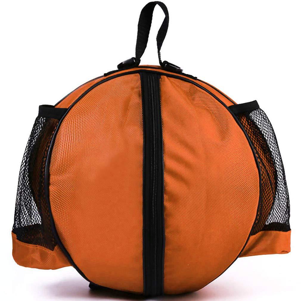 Orange LnLyin Praktische Basketball Tasche Tragbare Outdoor Sport Umh/ängetasche Tragen Fu/ßball Volleyball Taschen Trainingszubeh/ör Aufbewahrungskoffer F/ür M/änner Frauen