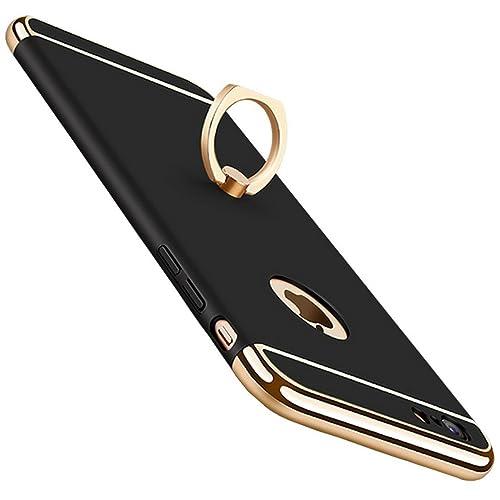 Carcasa iPhone 7 / iPhone 7 Plus Funda, Vanki 3-en-1 con Kickstand Ring de Enchapado Protector Super...