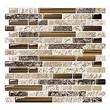 """kitchen back splash tile  Peel and Stick Backsplash Tile for Kitchen, Anti-Mold Wall Tile in Sandstone (10 Sheets 10""""x10"""")"""