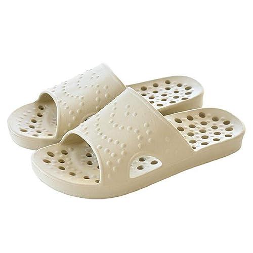 a873e39bd welltree Women's Shower/Bath Slippers Non-Slip Slide Summer Soft Indoor  House Open Toe