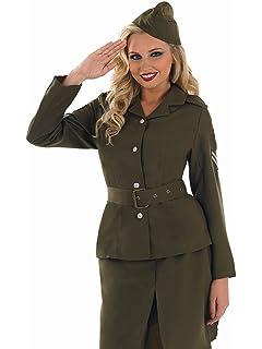 1ddcc5638c96 WW2 1940s Land Girl Women World War 2 Army Outfit Fancy Dress ...
