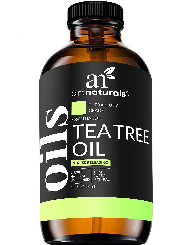 ArtNaturals Tea Tree Essential Oil 4oz - 100% Pure Oils Premium Melaleuca Therapeutic Grade Best for Acne, Skin, Hair, Nail Fungus, Face and Body Wash Aromatherapy & Diffuser