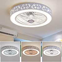 Ceiling Fan LED Ceiling Light - Dimmable with Remote Control, Creative Modern Bedroom Lamp Office Restaurant Living Room Lighting Decorative Ceiling Light Fan
