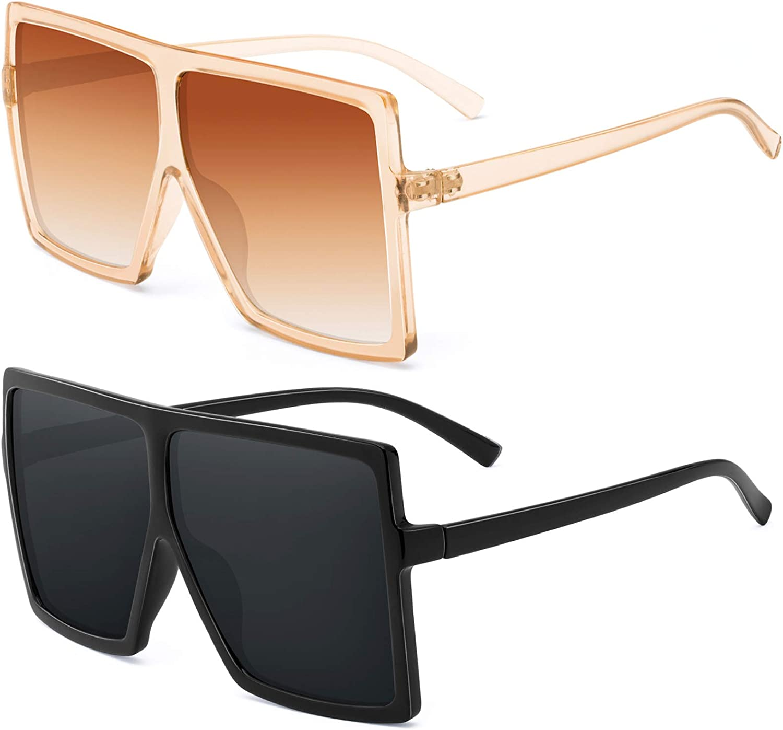 Women Oversized Square Sunglasses 2020 Fashion Outdoor Shades Gradient Eyewear