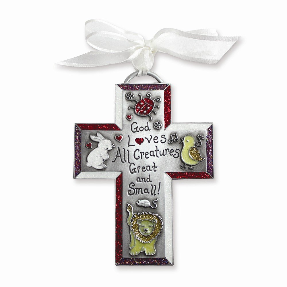 Jewelry Best Seller God Loves All Creatures Childrens Cross