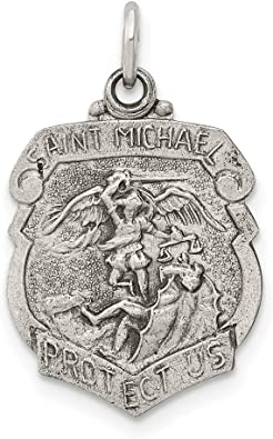 925 Sterling Silver Saint Michael Medal Pendant Charm Necklace Religious Patron St Fine Jewelry Gifts For Women For Her