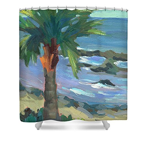 Pixels Shower Curtain (74'' x 71'') ''Turquoise Water'' by Pixels