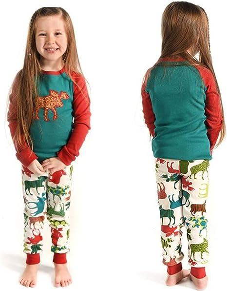 Pijamas de Navidad a juego para toda la familia, diseño a rayas con motivos navideños, Men, XX-Large