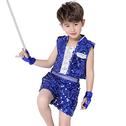 cb098142c Amazon.com   Wgwioo Children Jazz Dance Costumes Sequins Boys Girls ...