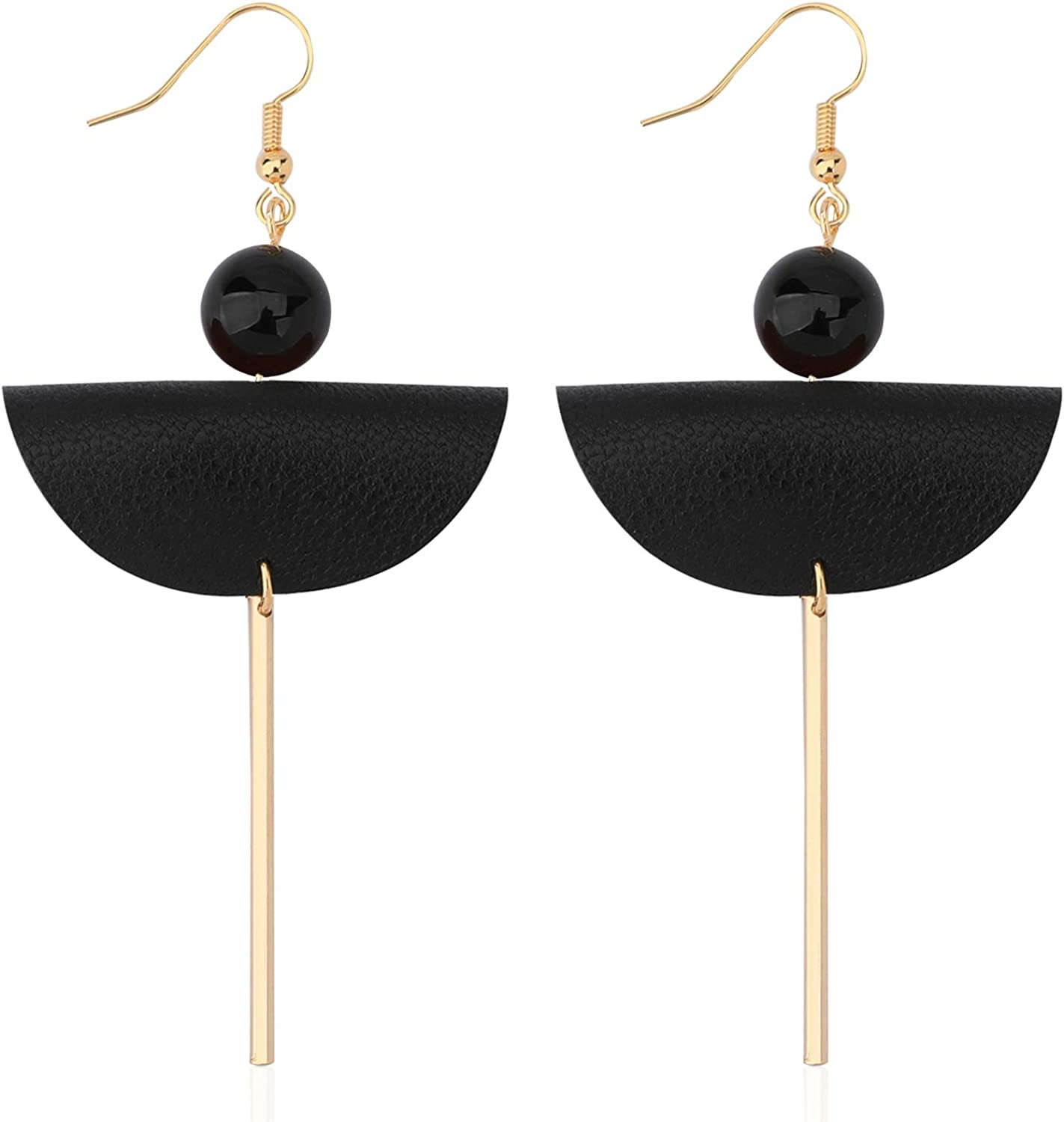 BrownBlack and Grey Agate Drop Earrings on Gold Plated Hooks