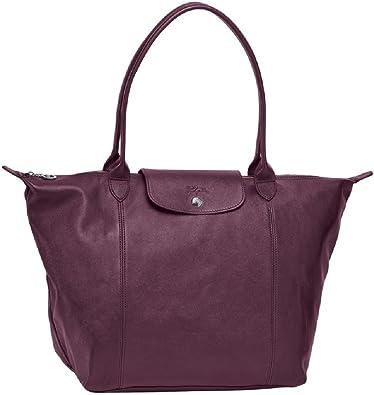 LONGCHAMP Le Pliage Cuir Large Leather Top Shoulder Bag Tote ...