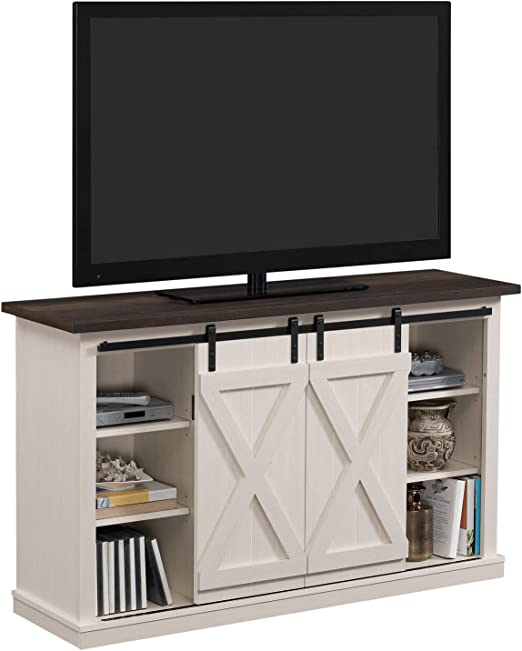 Soporte de TV industrial de 137 cm, aspecto rústico antiguo, puertas correderas, diseño vintage: Amazon.es: Juguetes y juegos