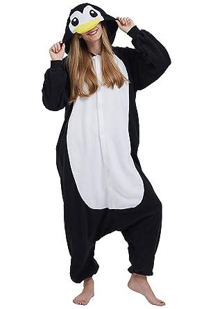 6d66789b74 Pijama Animados Kigurumi Cosplay Pingüino Negro Animal para Adulto Unisex   Amazon.es  Ropa y accesorios