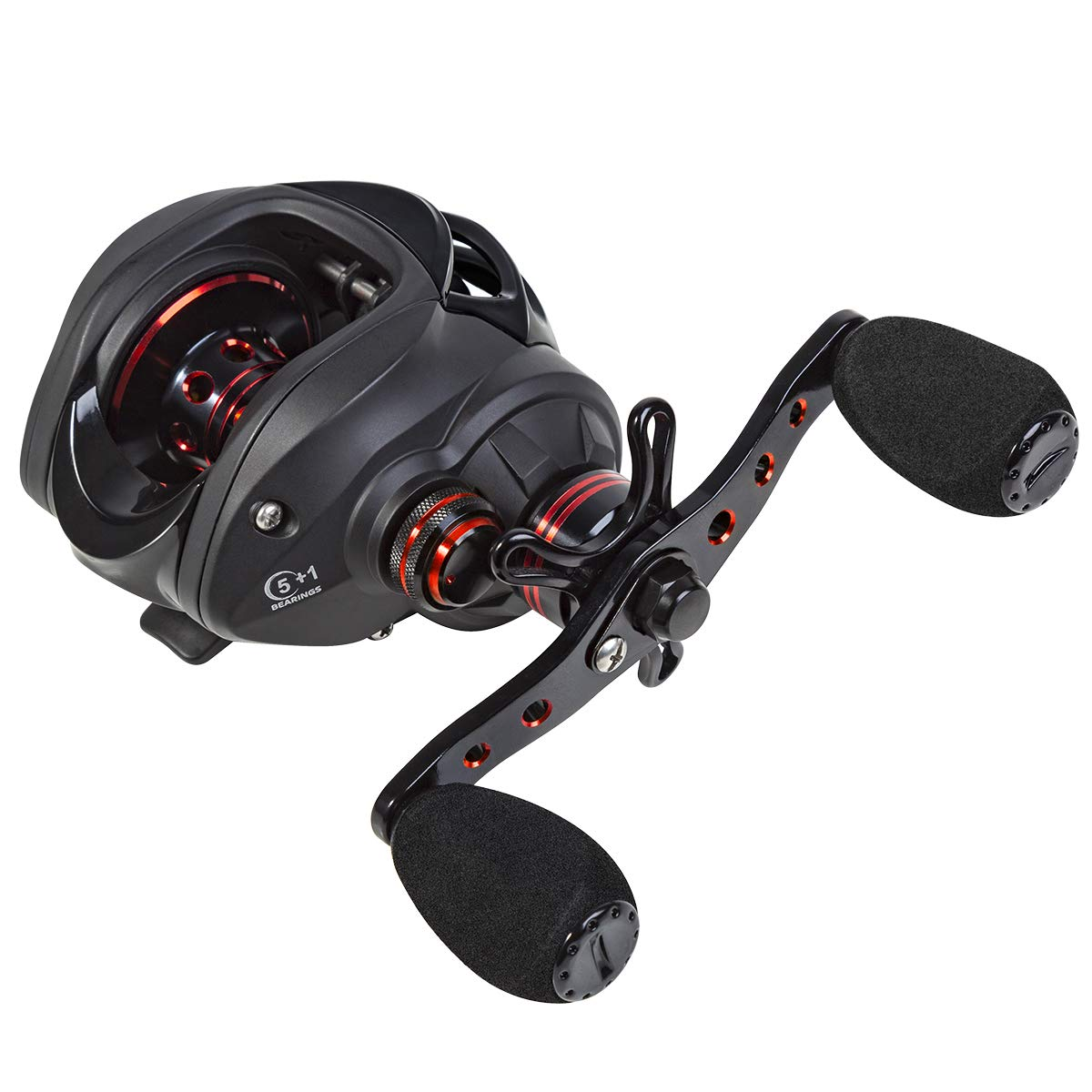 TAIRYO Baitcasting Reel 5 1 Shielded Stainless Steel Ball Bearings 12LB Carbon Fiber Drag 7.0 1 Gear Ratio Fishing Reel