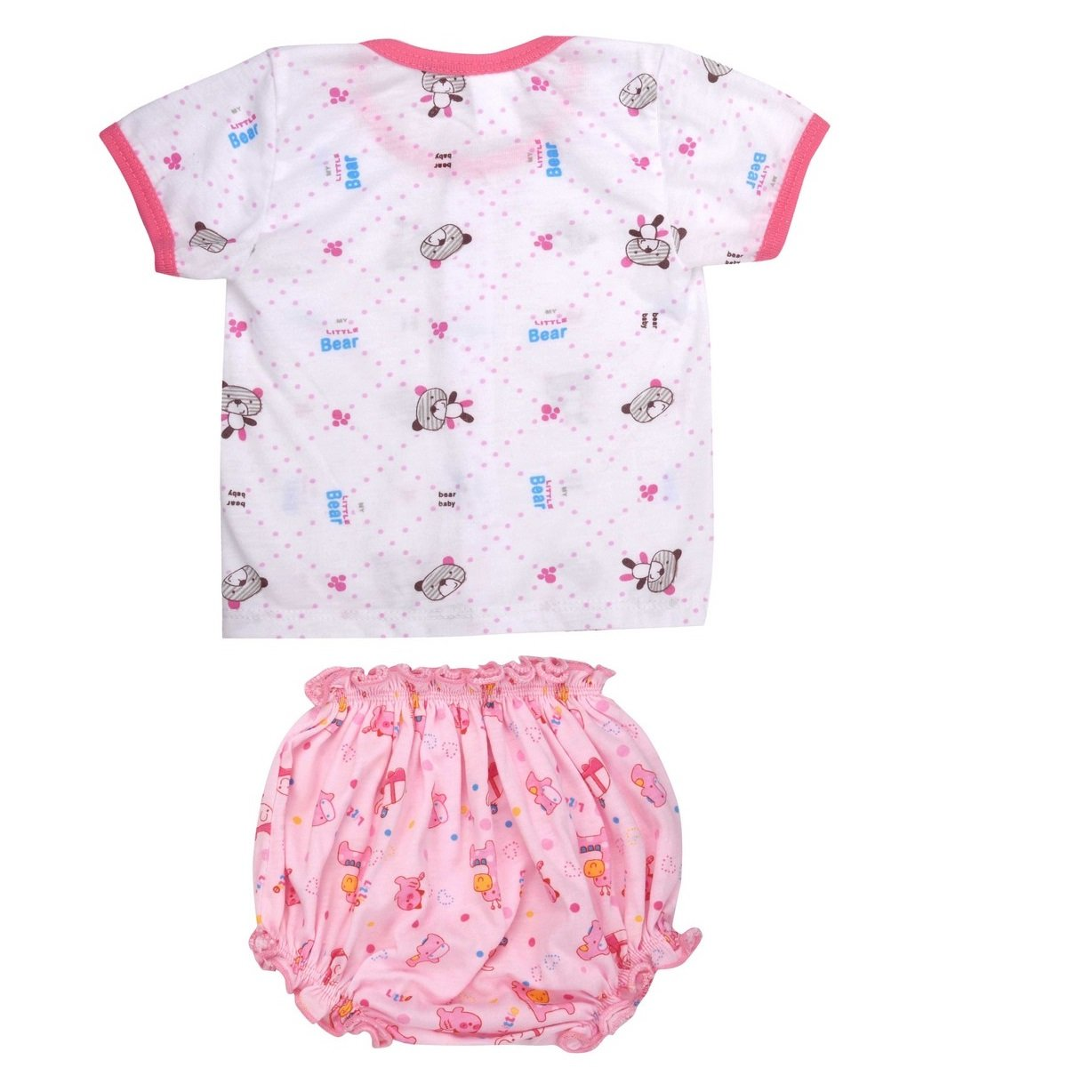 3d1e227deaa2 Goodstart Multicolored Cotton Baby tops with bottoms - Set of 2 ...