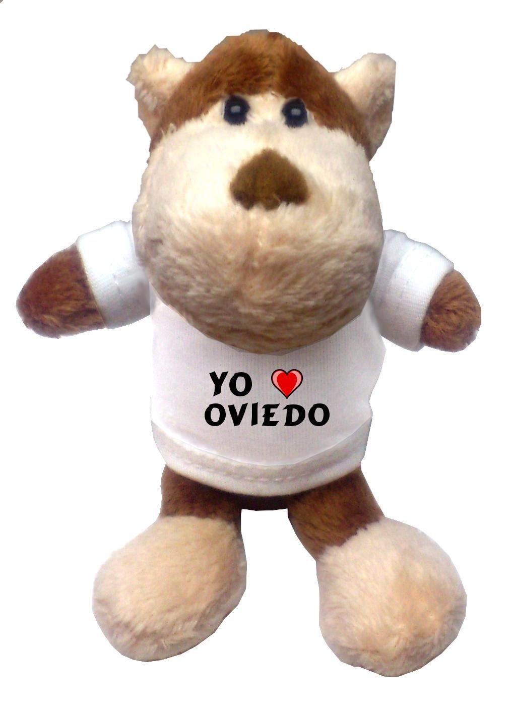 Mono de peluche (llavero) con Amo Oviedo en la camiseta (ciudad / asentamiento): Amazon.es: Juguetes y juegos