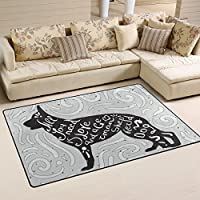 DEYYA German Shepherd Area Rugs Pads Non-Slip Floor Mat Doormats for Living Room Bedroom 31 x 20 inches