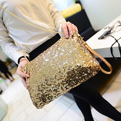 Clutch for Messenger Bag Bling Silver Bag Magic Glitter Handbag Ya Womens Jin Party FqpAfx