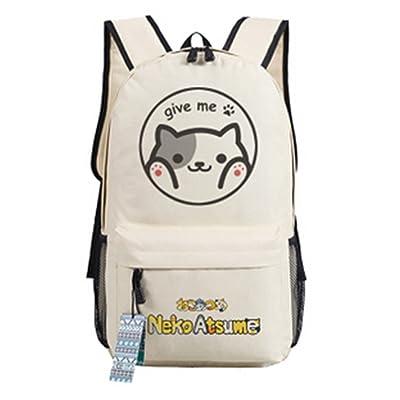 delicate YOYOSHome Anime Neko Atsume Cat Backyard Cosplay Messenger Bag  Backpack School Bag dc0a741f0047d