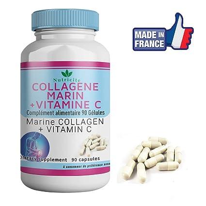 Colágeno marino + Vitamina C - 90 cápsulas - Nutricite - 600 MG - Calidad francesa