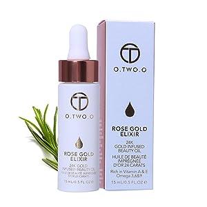 ROPALIA 24k Rose Gold Elixir Lip Liquid Foundation Moisturizing Clear Remover Dead Skin Anti-wrinkle Enhancer Lips Essential Oil