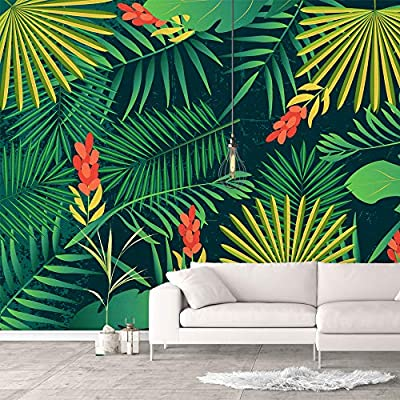 Classic Artwork, Stunning Print, Wall Murals for Bedroom Green Plants Animals Removable Wallpaper Peel and Stick Wall Stickers