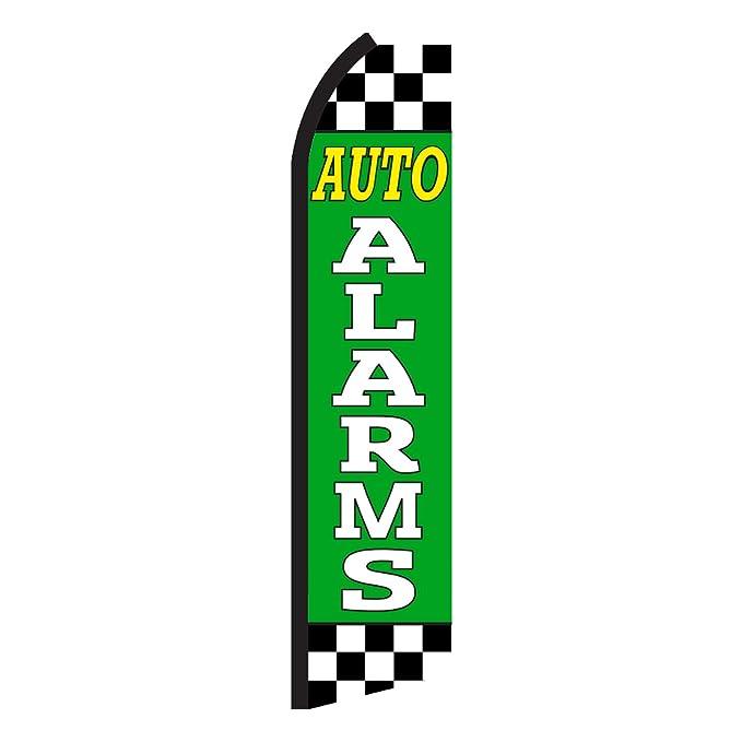 Amazon.com: Auto Alarmas Checkered Swooper Bandera: Jardín y ...