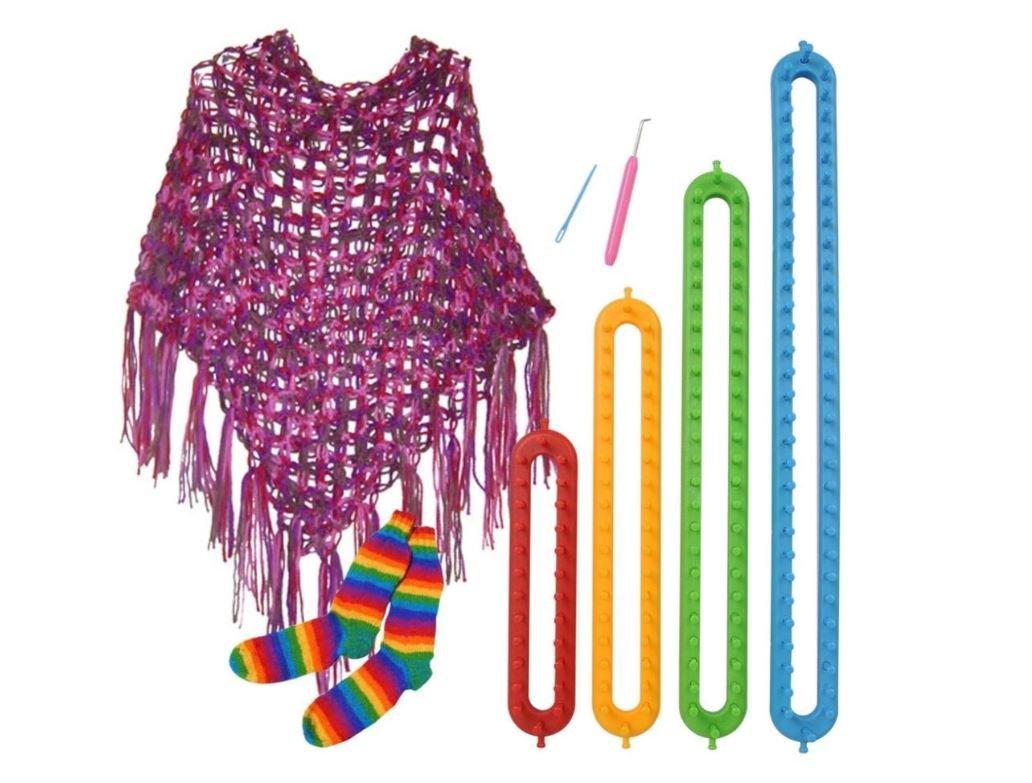 4 Sizes DIY Scarf Shawl Hat Socks Blanket Knitter Long Looms ABS Plastic Weaving Tools by AdvancedShop