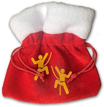 Bolsa de Regalo Navidad Clip Art De Dibujos Animados Escalada ...