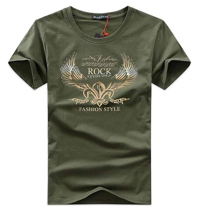 HNOSD 2019 Camiseta para Hombres Hombres Cuello Redondo Estampado ...