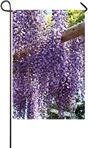 ZLU Garden Flag Wisteria Grapes Beams Light 12x18 inches(Without Flagpole)