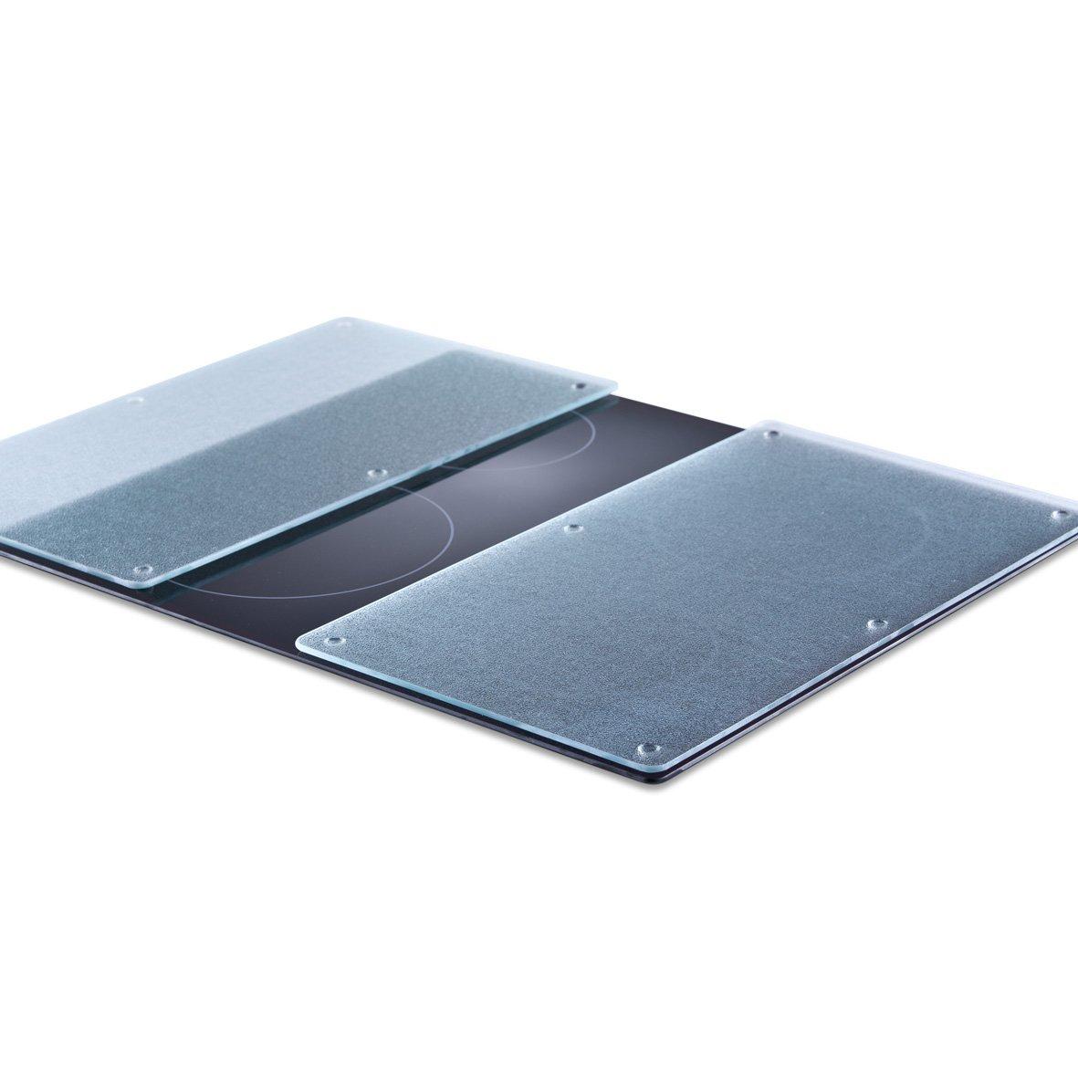 Zeller 26205 - Tabla para cortar de cristal, vídrio, 52 x 30 cm, 2 unidades