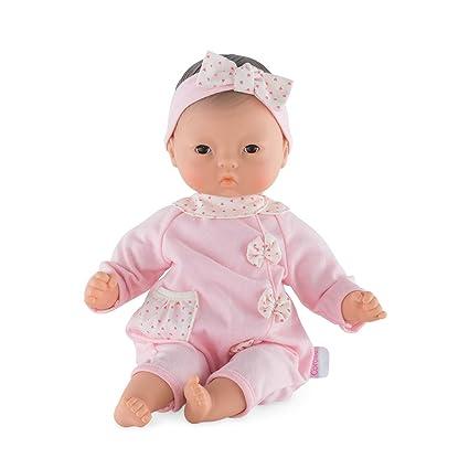 Corolle FPJ93 Bébé Calin Babypuppe, rosa, weiß, 30 cm